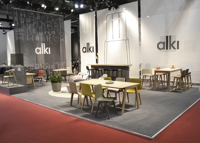 Alki alki au salon international du mobilier de milan for Furniture exhibition
